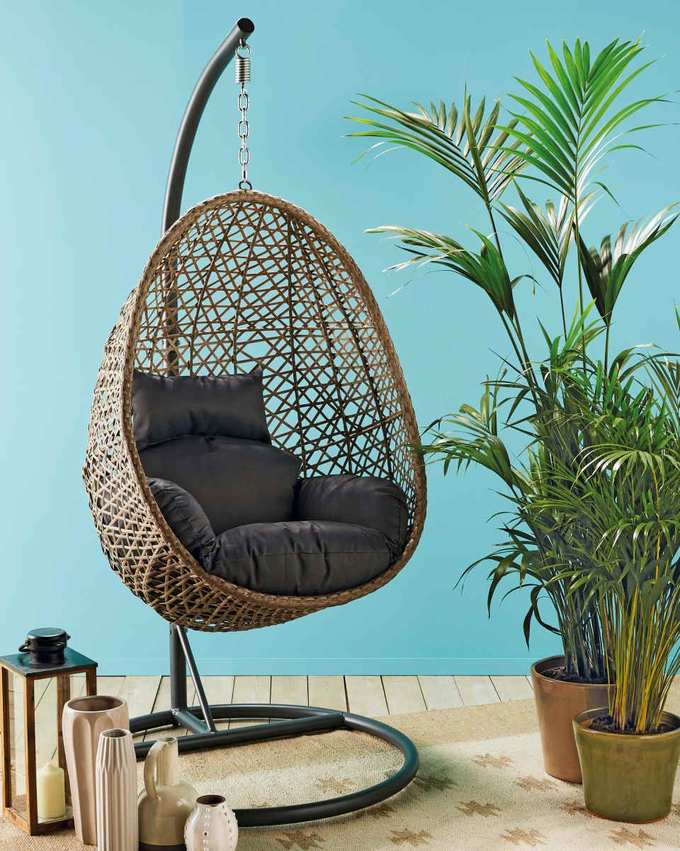 Balkon Lounge Aldi Gardenline Hanging Egg Chair Foxgloves Downstairs In 2019