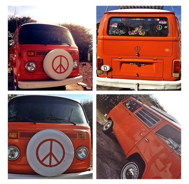 I pass this beauty everyday. Had to pull over for pictures of her!! Peace Love VW✌❤-Nicky Sizemore