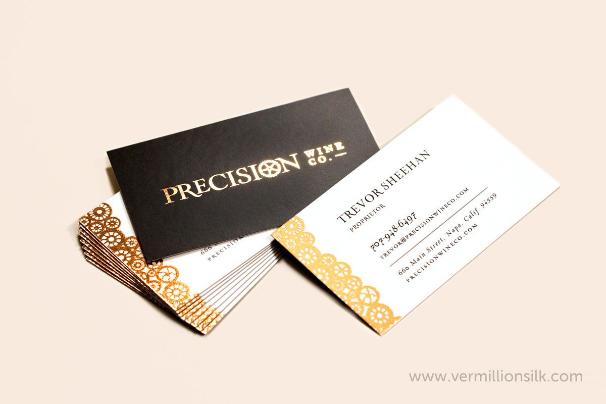 Copper foil business cards with our silk finish. Printed for ...