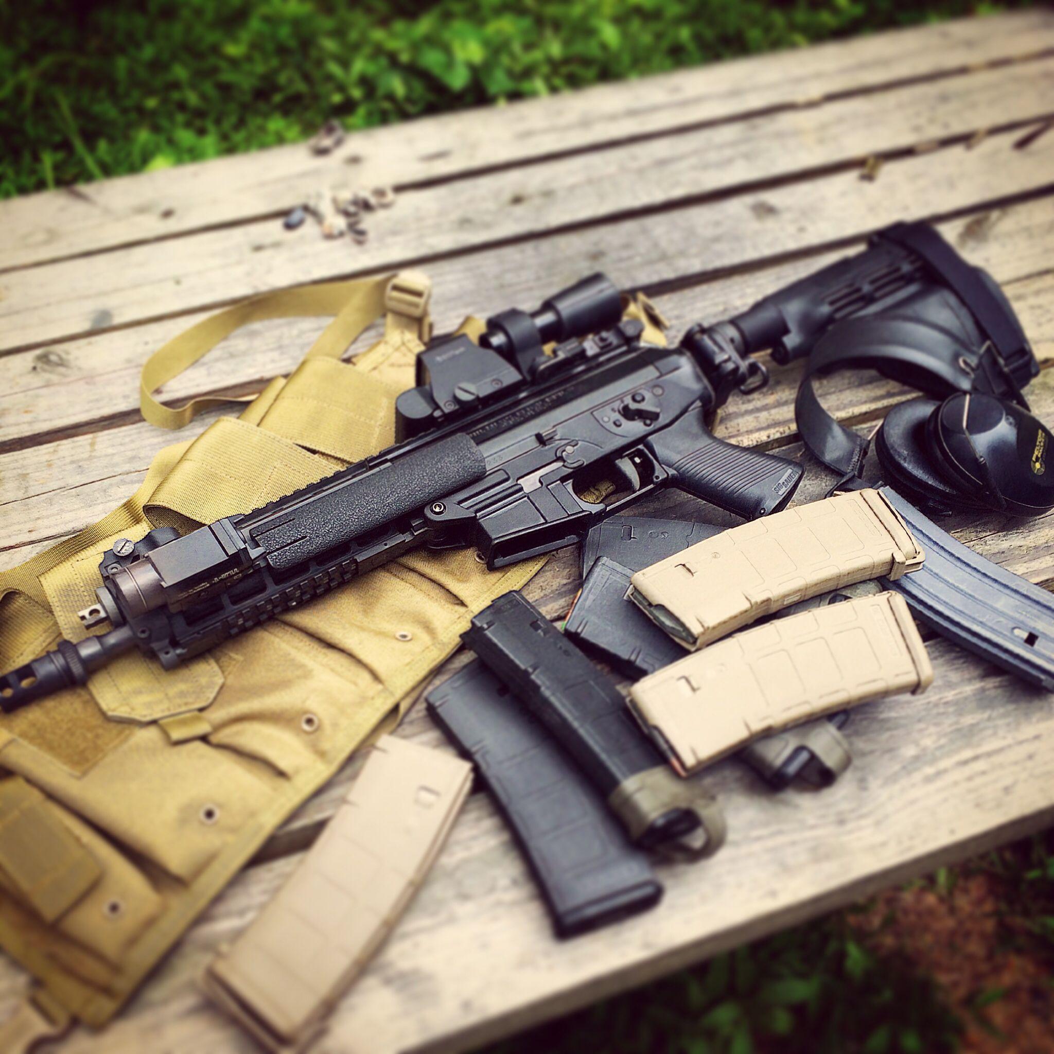 Sig Sauer P556 Quad Rail SWAT Pistol In 556 223 With SB15 TacBrace