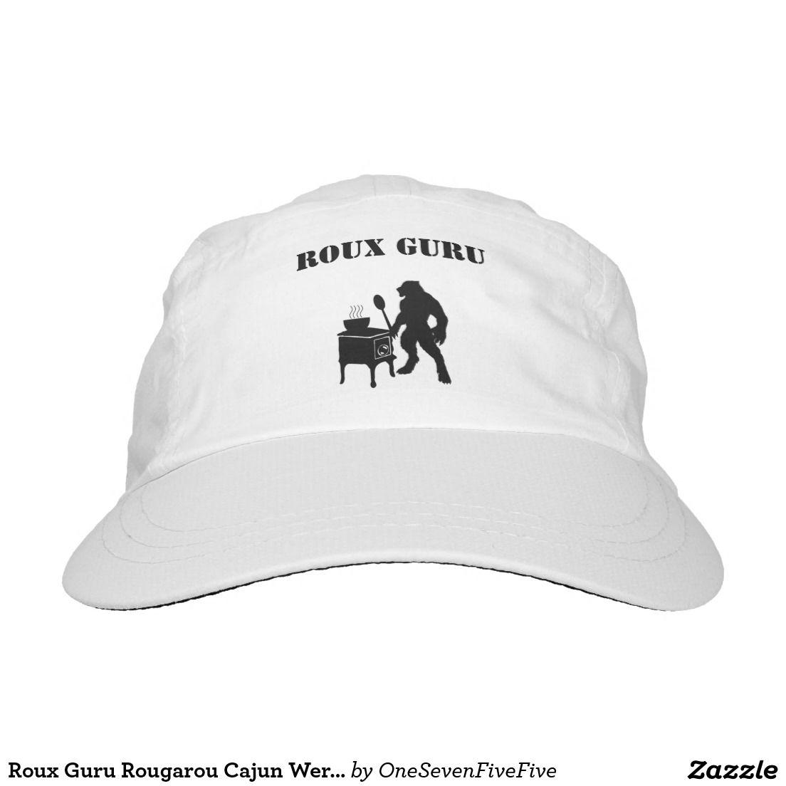 b04d971e448 Roux Guru Rougarou Cajun Werewolf Trucker Hat This design is a fun play on  words starring the legendary Louisiana rougarou. The cajun werewolf is  depicted ...