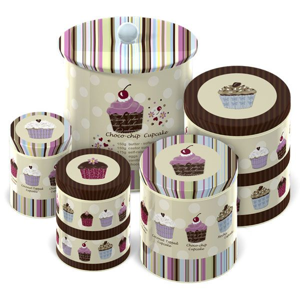Cupcake Canisters For Kitchen: Cupcake Kitchen Decor