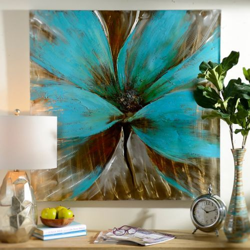 Bright Blue Flower Canvas Art Print Cuadro Pinturas y Abstracto