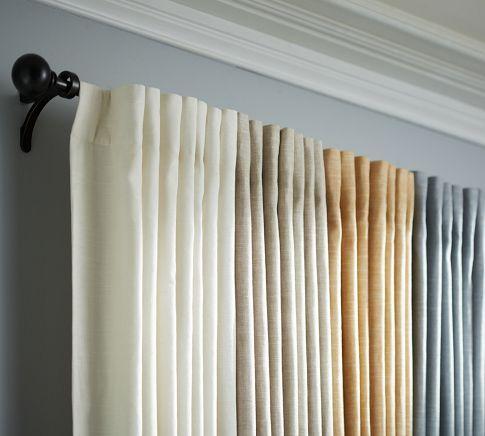 Emery Linen Cotton Rod Pocket Curtain Blue Dawn Linen Drapes Curtains Rod Pocket Curtains