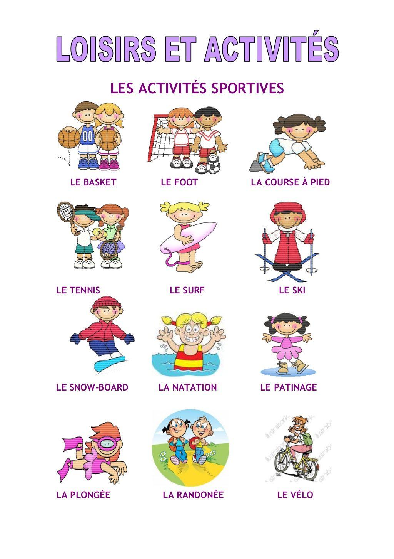 Loisirs Et Activites By Lebaobabbleu Via Slideshare