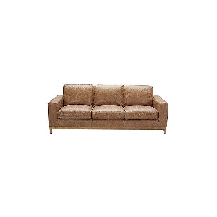 Leather Sofas And Modulars - Zahra Sofa 3S Saddle