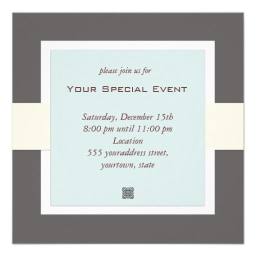 And Simple Business Event Invitation