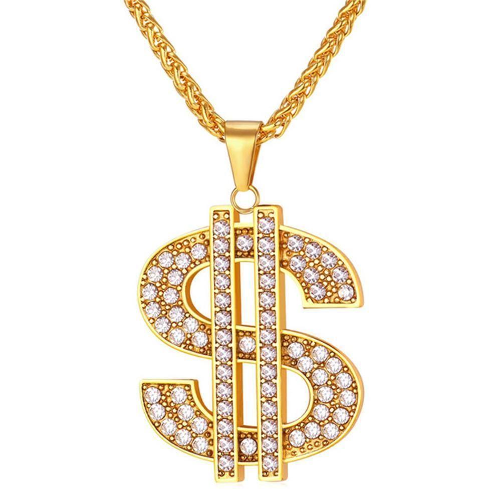 Money Dollar Gold Theme Shoe Charm Set