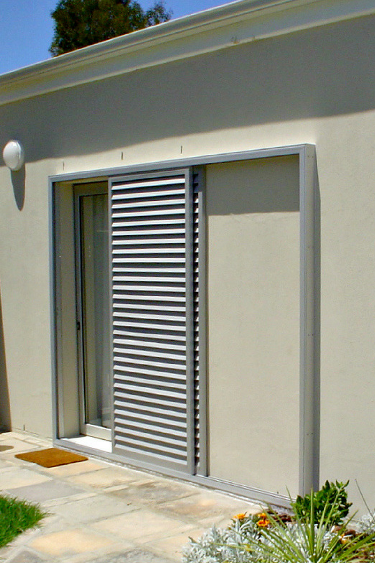 Exterior: Sliding Shutters For Improved Security And Light Control