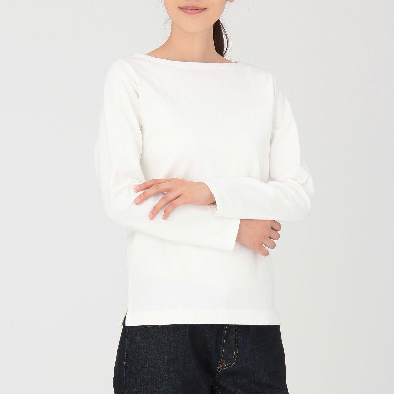 オーガニックコットン太番手長袖Tシャツ(無地) 婦人XS・白 | 無印