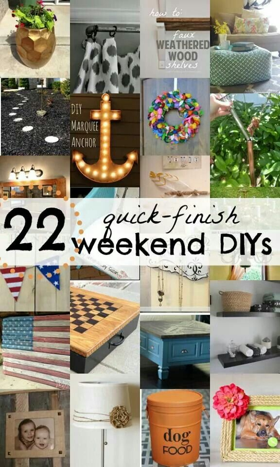 Diy Weekend Projects Things To Do Diy Projects Diy