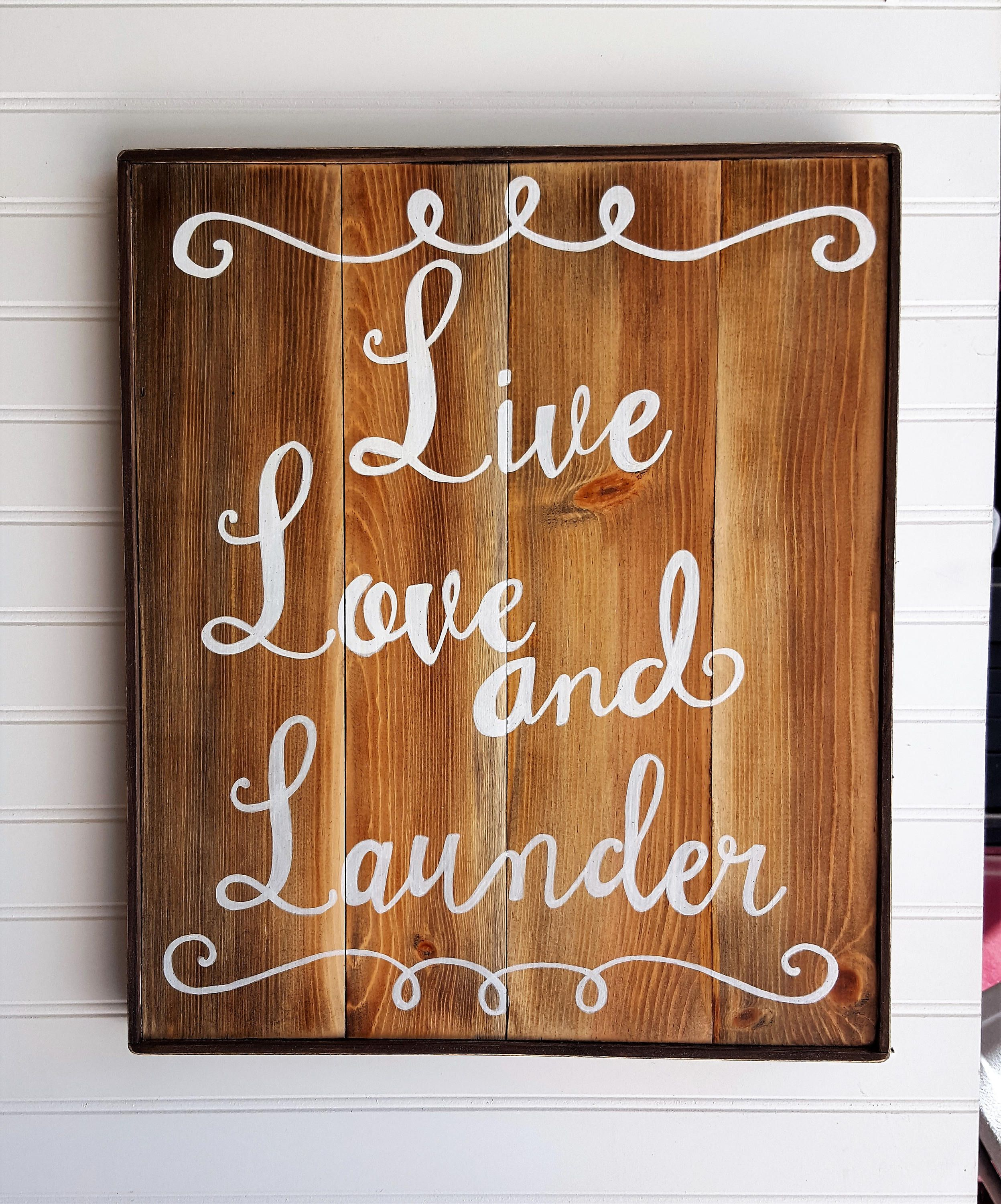 Wooden Laundry Sign Entrancing Rustic Laundry Decor Live Love And Lauder Humorous Laundry Design Ideas