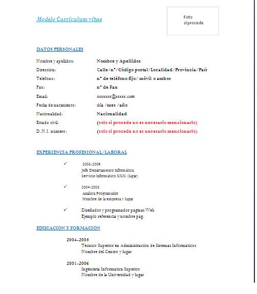 Simple Peru Modelos De Curriculum Vitae Curriculum Vitae Simple