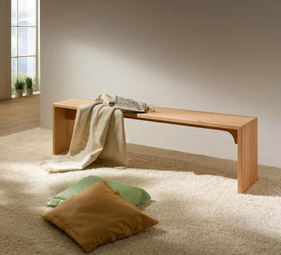 Bettbank Buche massiv fürs Schlafzimmer oder die Diele kaufen - schlafzimmer holz massiv
