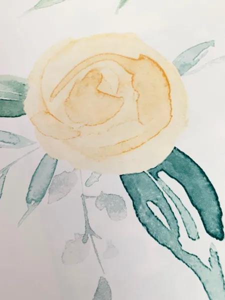Watercolor Roses Wallpaper Yellow Joanna Gaines Watercolor Rose Yellow Wallpaper Rose Wallpaper