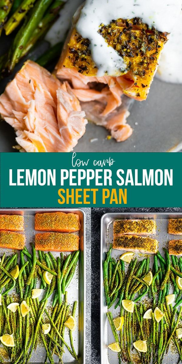 Lemon Pepper Salmon Sheet Pan