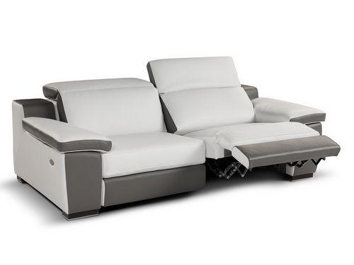 Leather Recliner Sofa 2013 White Color False Ceiling Living