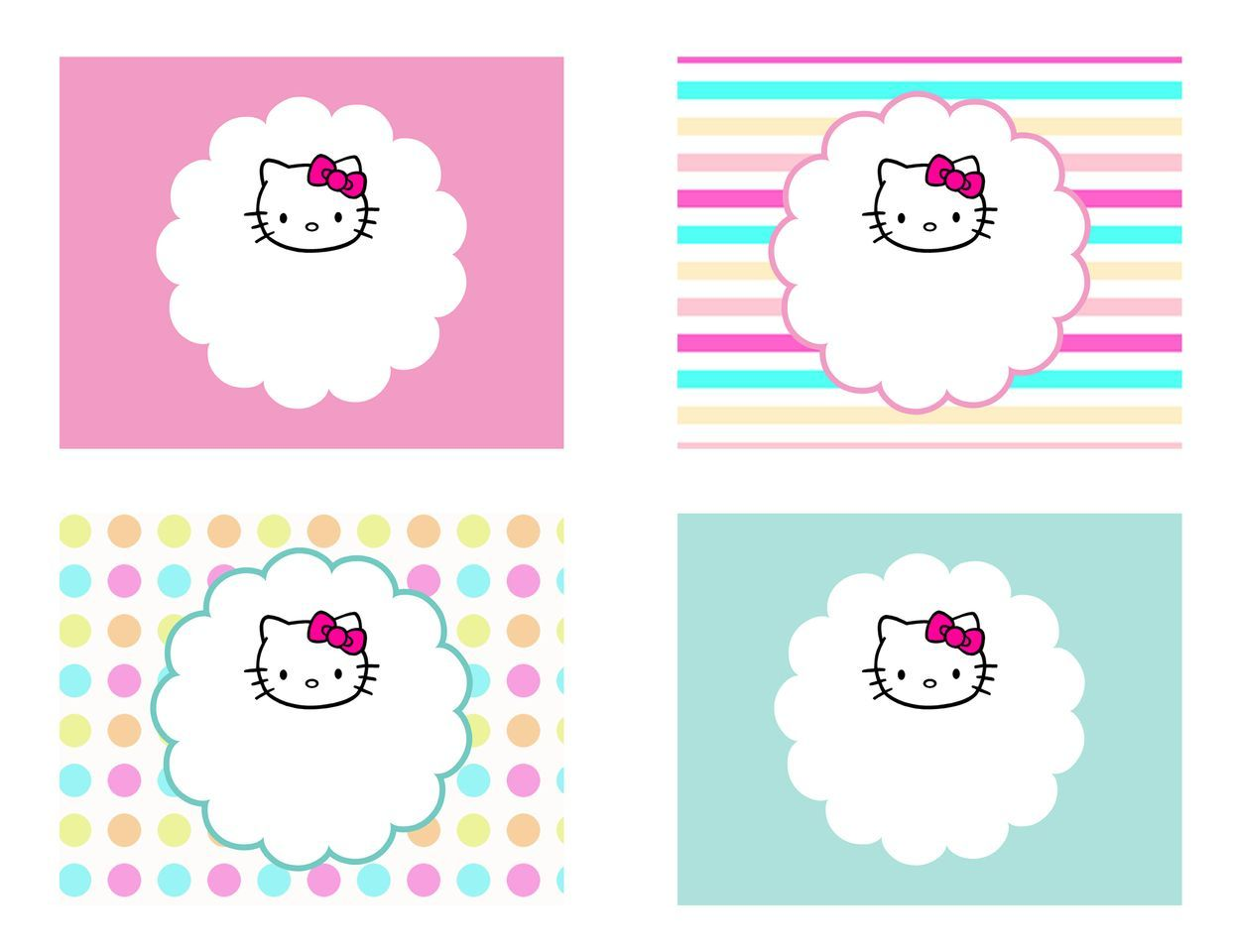 diy free hello kitty label free birthday party decorations