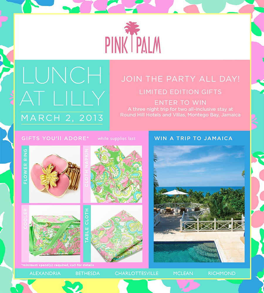 Lunch At Lilly The Pink Palm