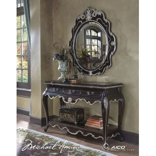 Pleasant Lavelle Dark Truffle Console Table And Mirror By Aico Cjindustries Chair Design For Home Cjindustriesco