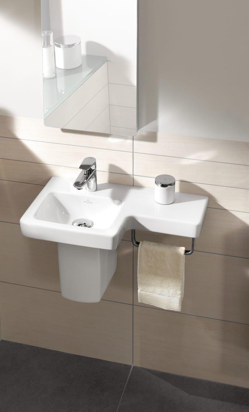 Mit Diesen Handgriffen Richten Sie Ihr Kleines Bad Ein Kleines Waschbecken Badezimmer Modernes Badezimmer
