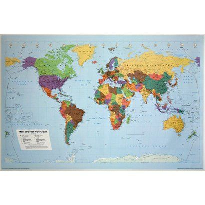 World map poster 24x36opens in a new window teaching aids world map poster 24x36opens in a new window gumiabroncs Images