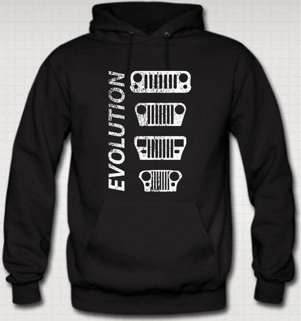 b8cccac3d EVOLUTION JEEP CJ YJ TJ JK HOODIE Sweater WRANGLER ROCK CRAWLER CJ7 Willies  NEW