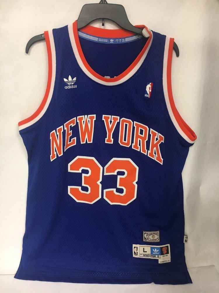 5a490ec39 NEW Adidas New York Knicks Patrick Ewing Hardwood Classics Jersey 1990-1991  (eBay Link)
