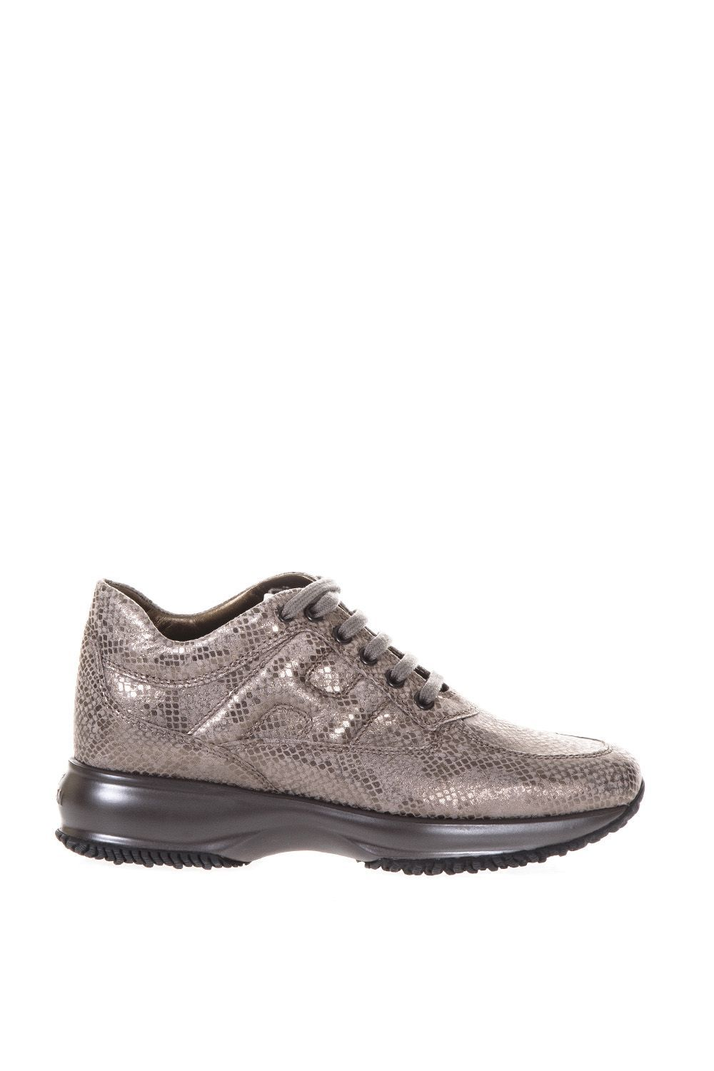Reptile effect leather Interactive sneakers Hogan 7amwft