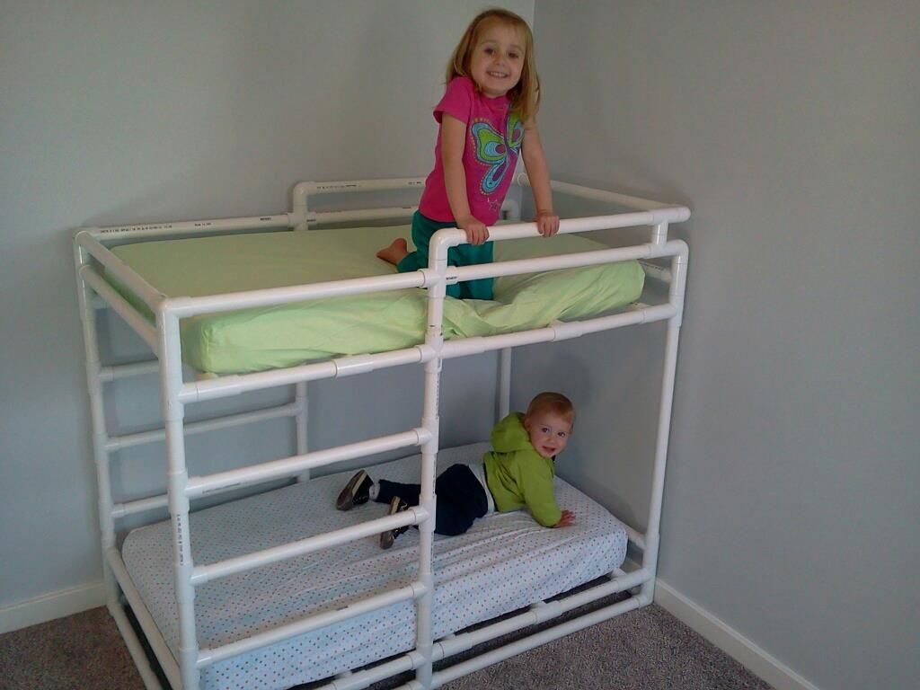 Toddler bunk beds plans - Pvc Toddler Bunk Bed From 1 Schedule 40 Pipe