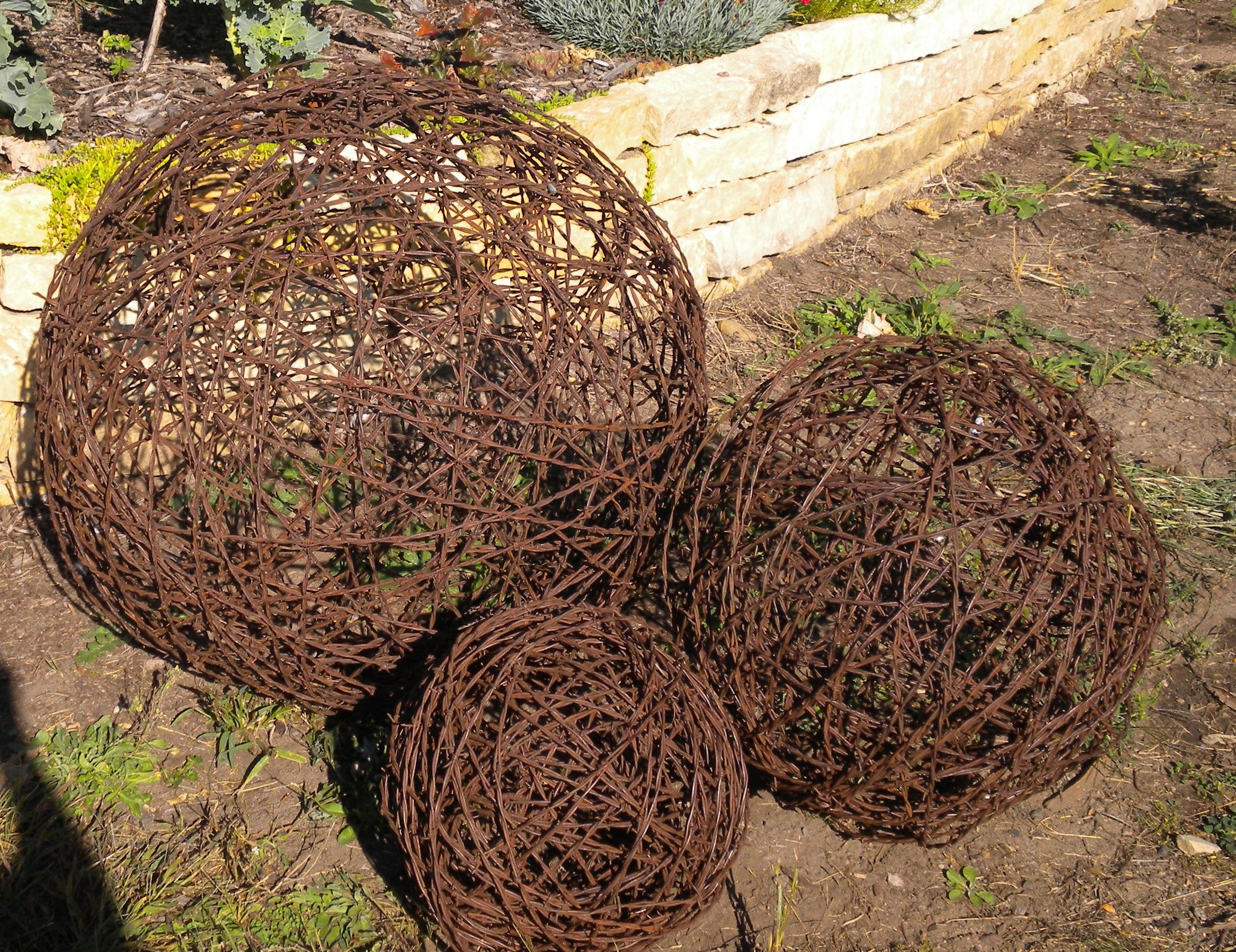 How To Make Metal Garden Art Part - 18: Rusty Barbed Wire Garden Art. By Mike Ludens