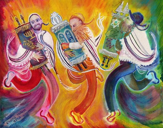 Jewish cards greeting cards for simchat torah simchat torah and torah simchat torah greeting card by jewish greeting cards m4hsunfo