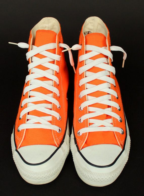 7a86147b947092 ViNtAgE Orange CONVERSE Chuck Taylor Hi Top Shoes Made in USA Mens 7 ...