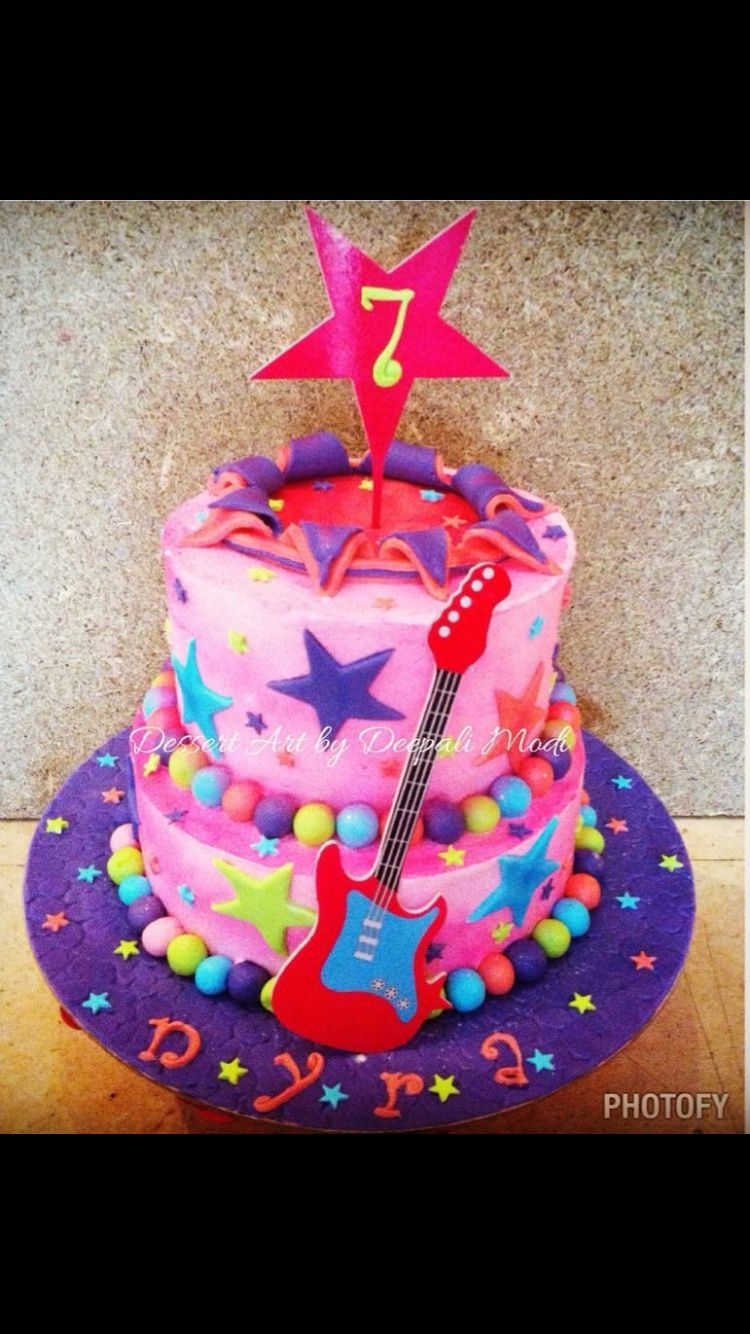 Rockstarbirthday cake final rockstar cake designcovered with