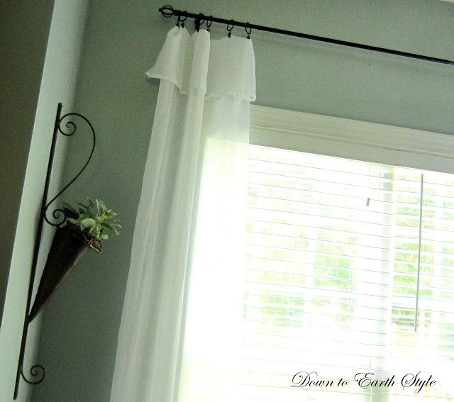 Down To Earth Style White Flowing Curtains Easy And