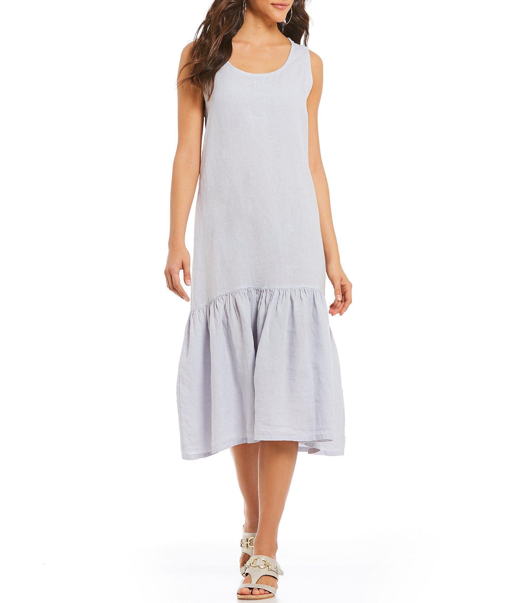 e7ffd7af411 Bryn Walker Salome Flounce Midi Dress  Dillards