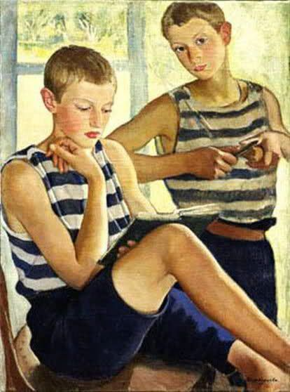 Garotos, 1919, Zinaida Serebriakova (Ucrânia, 1884-1967), óleo sobre tela