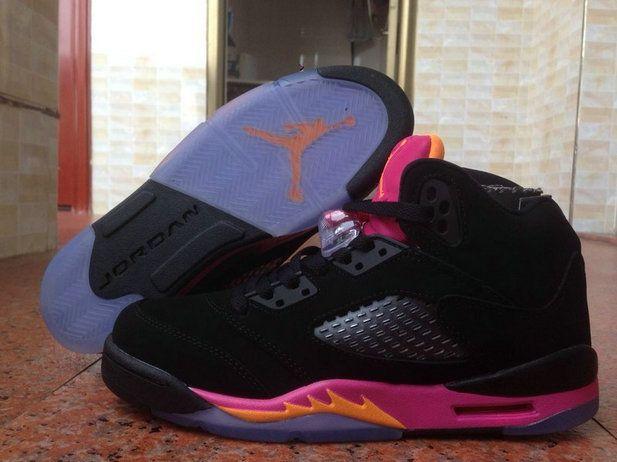 Authentic Cheap Air Jordan 5 Discount black pink shoe Authentic Cheap Air  Jordan retro 5 v