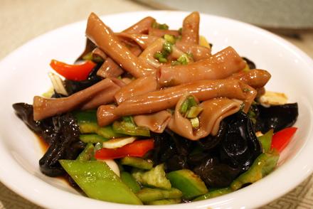 Stir Fried Sea Intestine With Garlic Chives Sea Intestine Is A Sea
