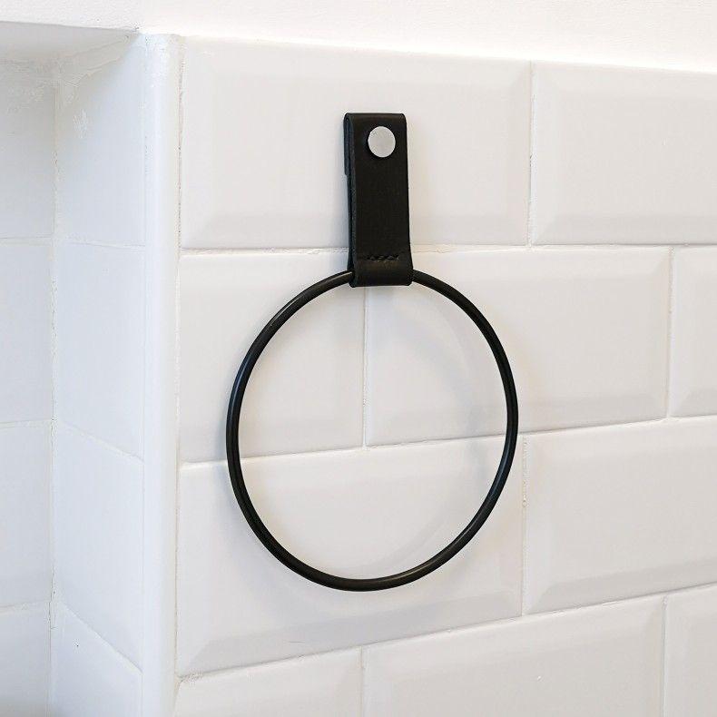 Towel Ring Towel Holder With Images Towel Holder Towel Rings Black Towels
