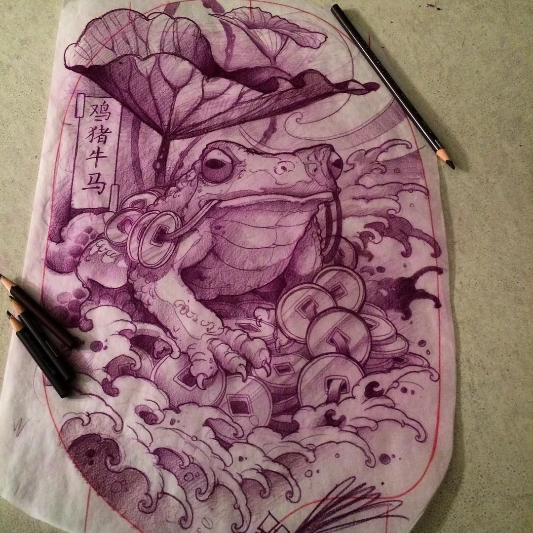 45++ Awesome Japanese lucky frog tattoo ideas in 2021