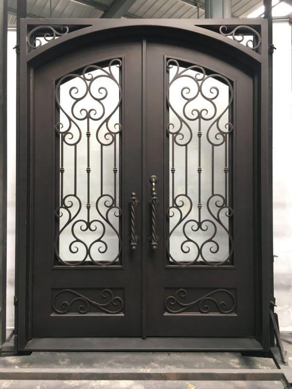 Wrought Iron Door El1330 In 2020 Wrought Iron Doors Iron Doors