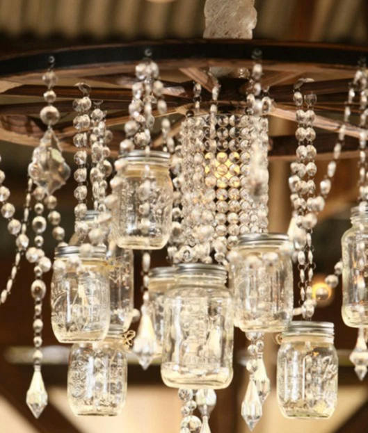 32 Diy Mason Jar Lighting Ideas Wagon Wheel Chandeliermason