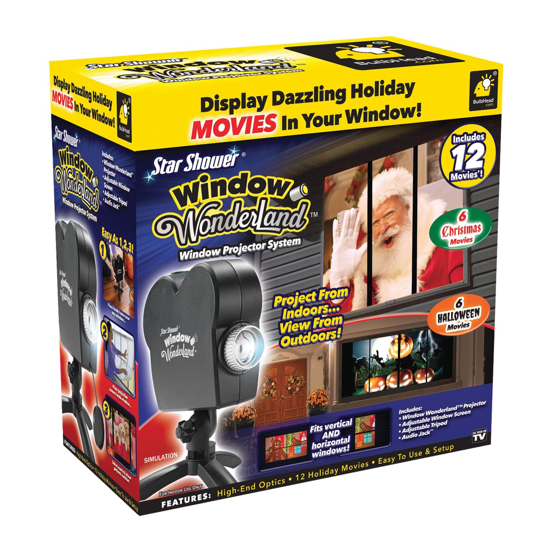 As Seen On Tv Window Wonderland Projector System Window In