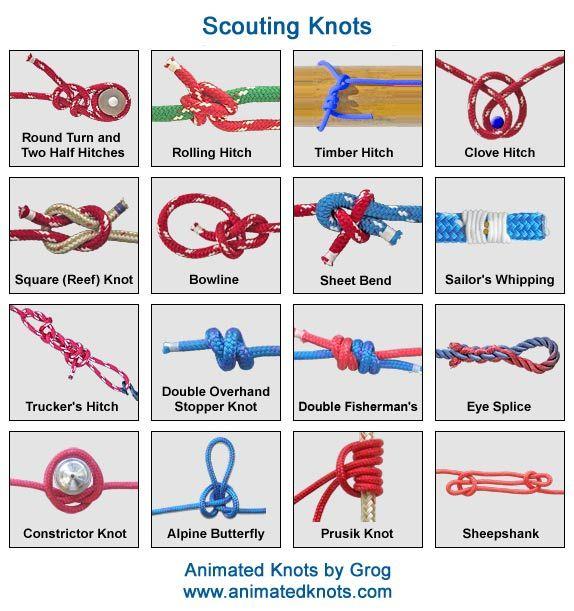 Court Of Honor April 11th Climbing Knots Survival Knots Knots