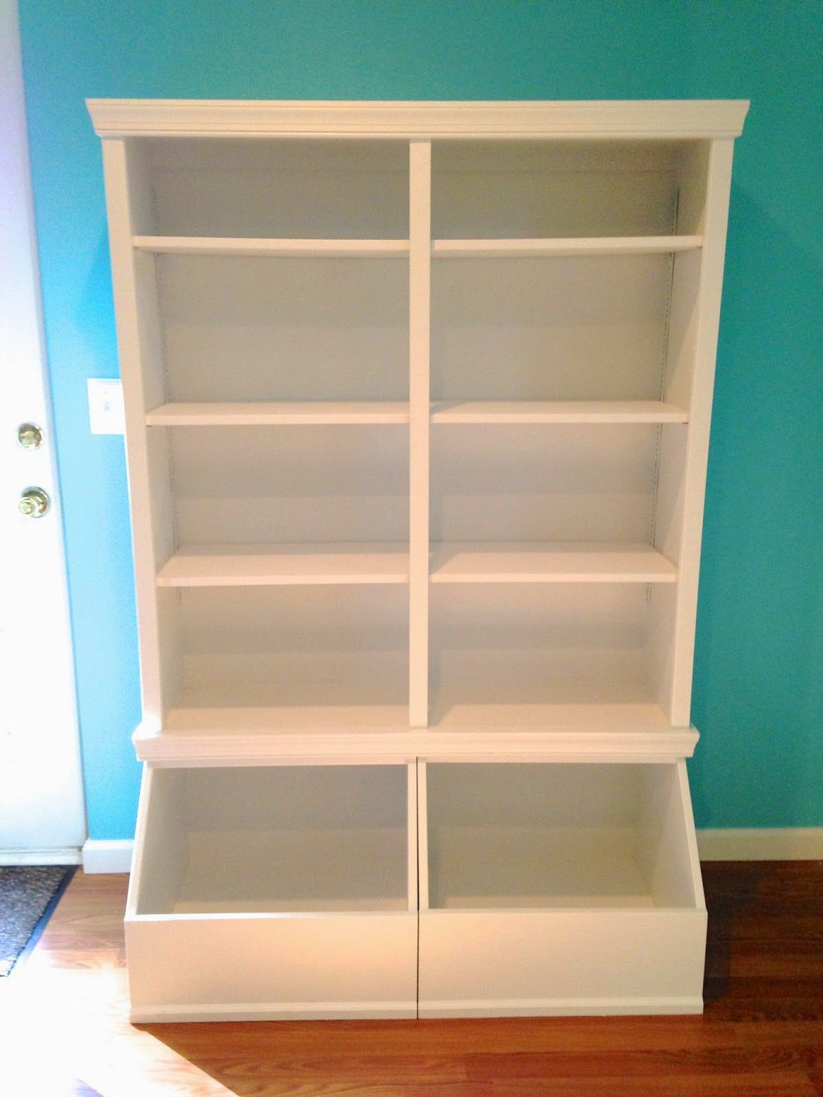 I Was Decluttering The House But I Put That On Hiatus For Two Weeks While I Built Several Pieces Of Furnitu Toy Shelves Toy Room Storage Toy Storage Shelves