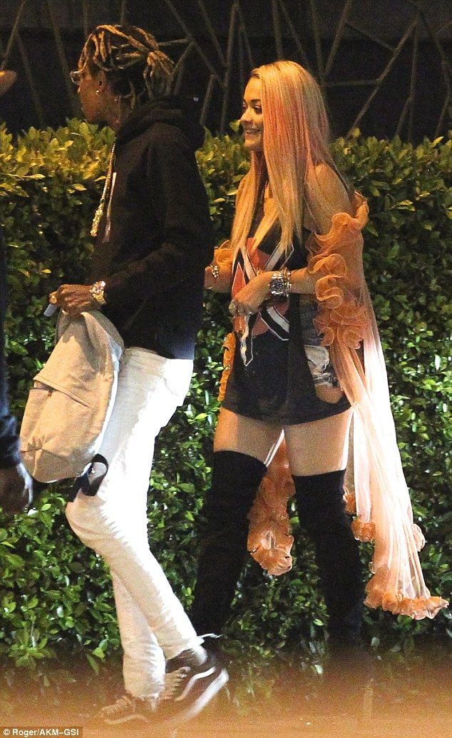 All smiles: Rita Ora, 24, and Wiz Khalifa, 27, appear to be really hitting things off as t...