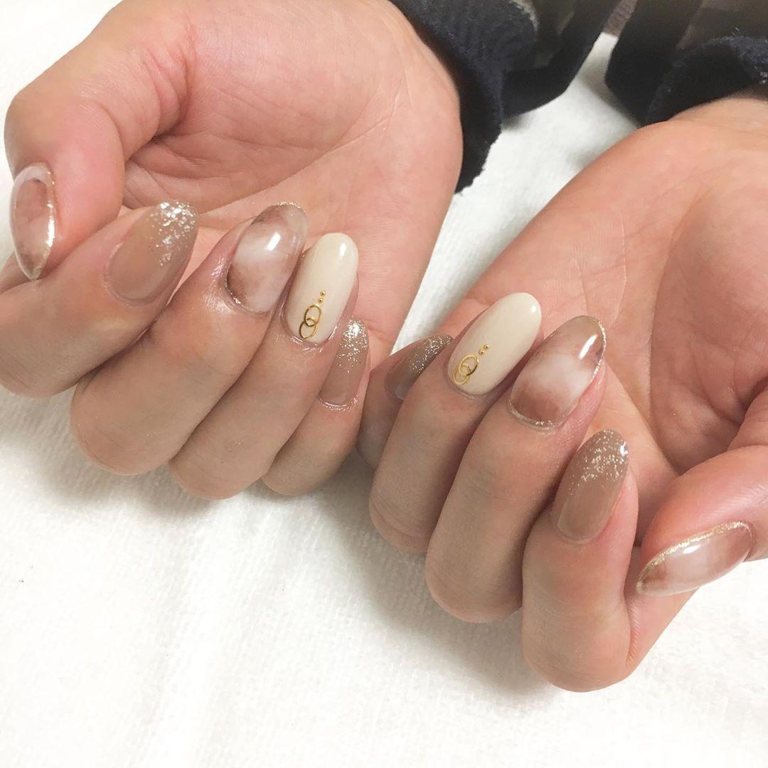 . . autumn nail . . #nail#nails #naildesign #nailart #nailsalon #gel#gelnails#au…