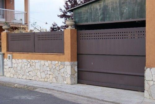 Vallados de hierro corten galvanizados de acero - Vallas para casas ...