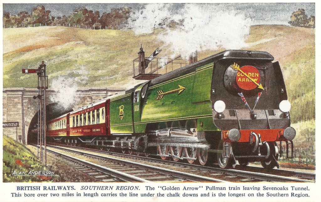 Golden Arrow Postcard.17 (With images) Southern railways